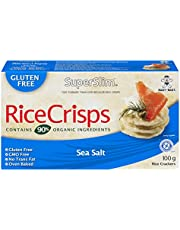 Superslim Superslim Rice Crisps 100g (Pack of 12) Sea Salt, Sea Salt, 1200 Grams