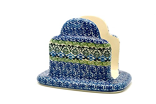 Polish Pottery Napkin Holder - (Polish Pottery Napkin Holder)