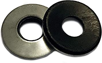 8 X 1//2 Bonded Neoprene Washer 18-8 Stainless Steel Package Qty 100