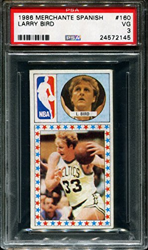 1986 MERCHANTE SPANISH #160 LARRY BIRD CELTICS HOF POP 3 PSA 3 K2521051-145 ()