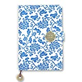 Bullet Journal Notebook -Silk Hardcover Dot Grid Notebook, Chinese Classic Yun Brocade Hardcover,8.5 x 5.7