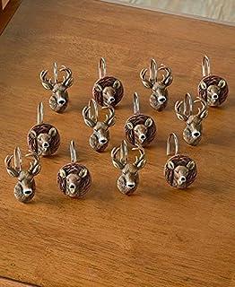 Set Of 12 Cold Snap Deer Shower Curtain Hooks