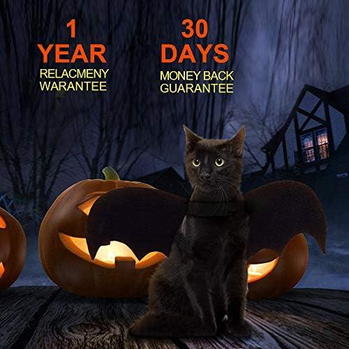 Cat Bat Costume,Halloween Cat Bat Wings for Pets,Cat Halloween Collar Pet Apparel for Small Dogs and Cats,Comfort Material Pet Costume for Halloween (Cat Bat Costume) 22