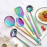 DISHWASHER SAFE Rainbow Titanium Cutlery Knife Set