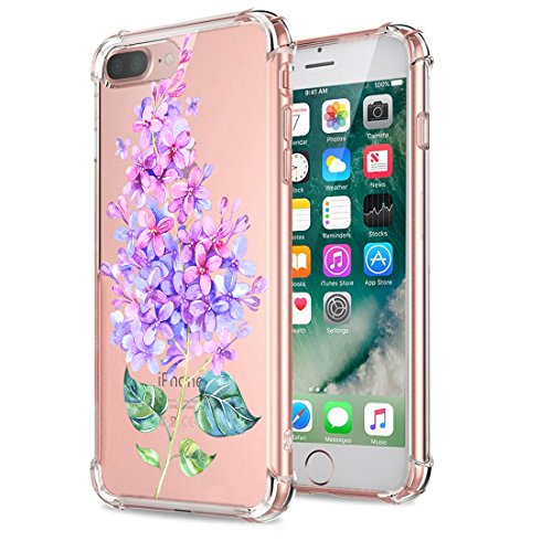 Price comparison product image Beryerbi iPhone 8 Plus Case Ultra Slim Transparent Anti-Scrape Air Cushion Technology Protective Cover for Apple 8 Plus (5, iPhone 8 Plus)