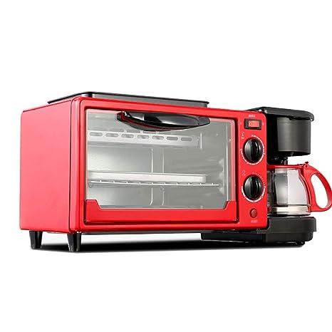 LI DANNA Máquina De Desayuno Casera 3 En 1 Cafetera Sartén Pan Tostadora Horno Eléctrico Máquina