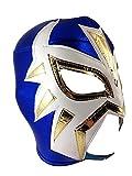 LA MASCARA Adult Lucha Libre Wrestling Mask (pro-fit) Costume Wear - Blue