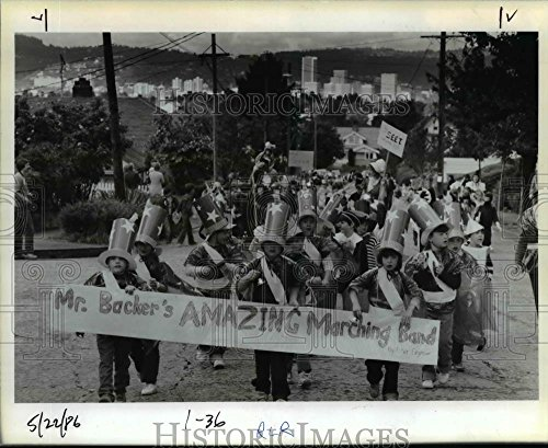 1986 Press Photo Storybook Parade-Portland-Glencoe School-Cheryl Adelman (Cheryl's Portland)
