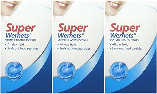 Three Packs Of Poligrip Wernets Super Denture Fixative Po...