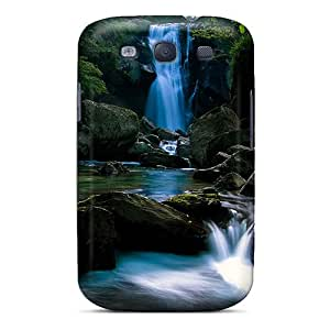 Protective Tpu Case With Fashion Design For Galaxy S3 (hidden Waterfall)