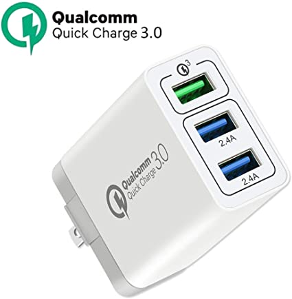 Amazon.com: Cargador de pared rápido USB 3.0 de carga rápida ...