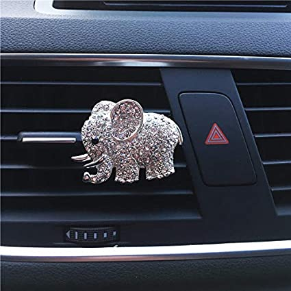 Air Freshener Auto Decor Animal Decorated Automobile Accessories Gift Car Ornament Car Vent Clip Air Freshener Cute Gift Diamond Elephant