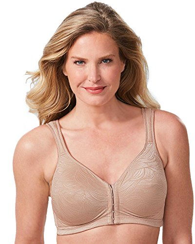 Playtex Women's 18 Hour Front Close Back Support Posture Bra WF, Nude, 38C (Posture Bras Womens)