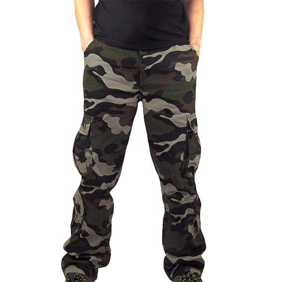 eeebbf125437 ITISME Homme Automne Et Hiver Mode Casu Poche Camouflage Combinaison Casual  Travail Sportif DéContracté Pantalon