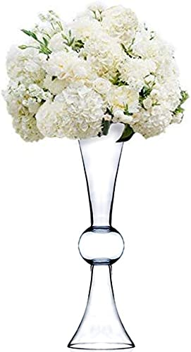 CYS EXCEL Clear Reversible Latour Trumpet Glass Vase Holder. Open 6 . Height 24 . Base 6 . Wholesale Lot 4 Pieces VTV2124