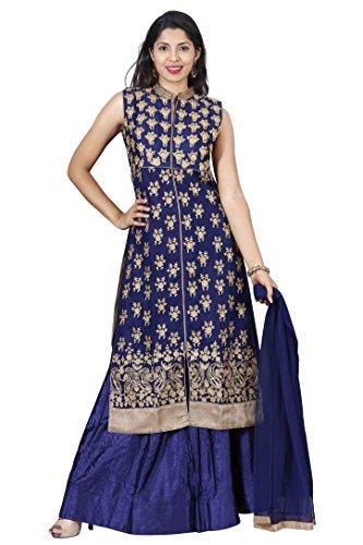 Salwar-Suits-for-Women-Manmandir-Net-Top-with-Ghagra-Salwar-Kameez-Readymade