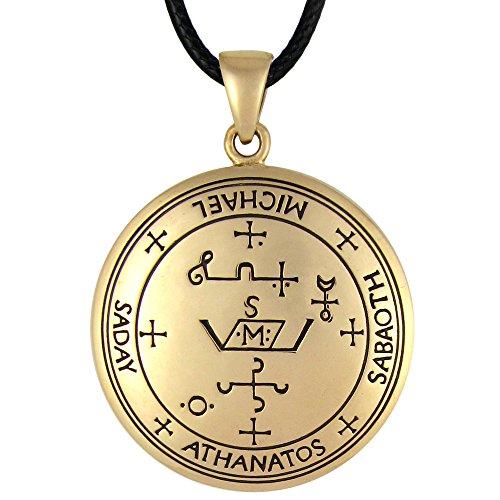 Moonlight Mysteries Bronze Sigil of Archangel Michael Talisman Necklace