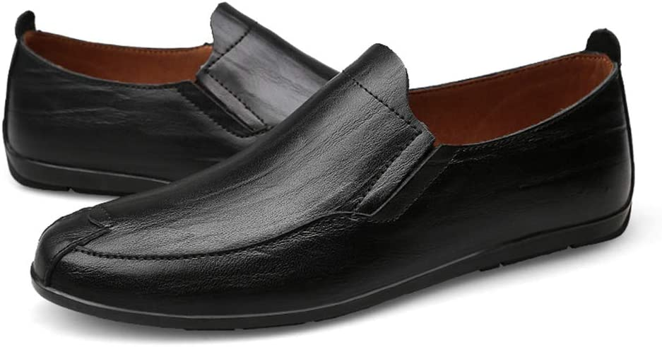 Color : Black, Size : 9.5 D M Yingxinguang Mens Fashion Driving Loafers Casual and Comfortable Classic Soft British Style Boat Moccasins US