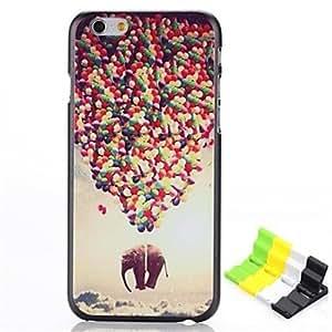 SHOUJIKE Balloon Elephant Pattern Hard Case and Phone Holder for iPhone 6