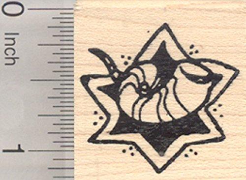 (Jewish Shofar Rubber Stamp, Rosh Hashanah or Yom Kippur)