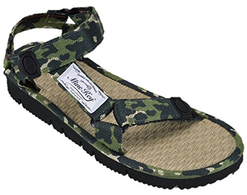 7323fac0a11d Mine Key Men s Natural Rushes Polyethylene Sandals 2(8-8.5 Green by Mine Key
