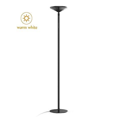 Avantica Lámpara de pie LED -Luz calida 30W, Temperatura del color 3000K -3500K, 3750 Lúmenes, Ajustable en Altura, Control Táctil, Brillo de 5 ...