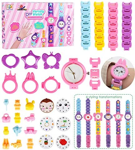 EP EXERCISE N PLAY DIY Watch Bracelet Jewelry Making Kit for Kids Girls Arts and Crafts Creativity Colorful STEM Toy for Kids Teen Girls Boys Toys Birthday Gifts