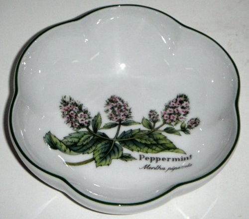 Royal Worcester Herbs Green Trim Round Scalloped Bowl ()