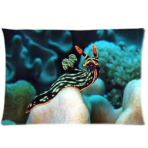The Forward Bioluminescent Sea Slug Custom Zippered Pillow Cases 20 Inch x 30 Inch(Twin sides) Cute