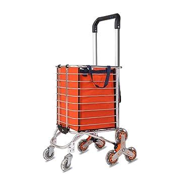 TEEYY Carro de la Compra de Aluminio portátil Cesta de la Compra Plegable Fácil de Subir