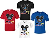 Disney Family Vacation Mickey T-Shirts Matching Cute T-Shirts (L Adult, Blue)