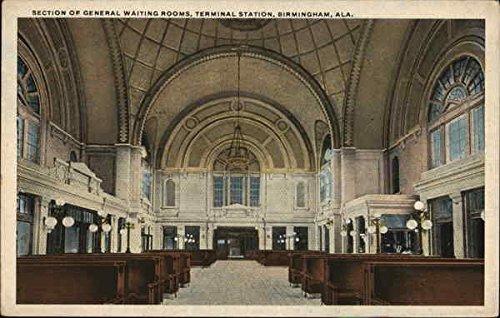 Terminal Section - Section of General Waiting Rooms, Terminal Station Birmingham, Alabama Original Vintage Postcard