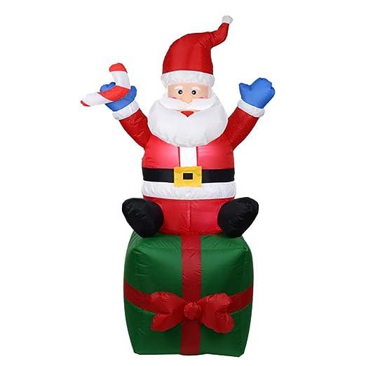 Watkings 1.8m Inflable Papá Noel, Inflable soplado por el Aire ...