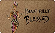 Shades of Color Beautifully Blessed, Floor Mat (IFM109)