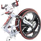 ALTRUISM X6 Folding Bike Frame 26 Inch Aluminium Mountain Bicycle 21 Speed Disc Brakes Bike Tall Man Mtb Bike 2 Color Choose Ce Rohs