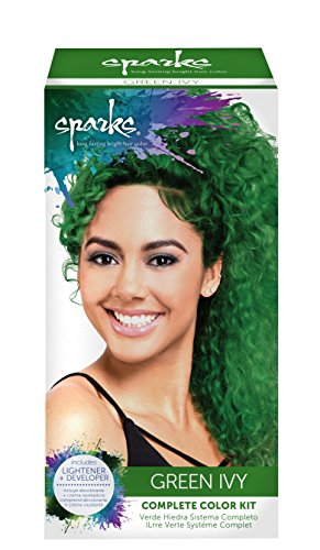 Dye Hair Bright Green - Sparks Complete Color Kit, Green Ivy