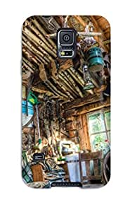 PCWqXWe2379CaQvb Case Cover, Fashionable Galaxy S5 Case - An Old Shack With A Bunch Of Stuff In It