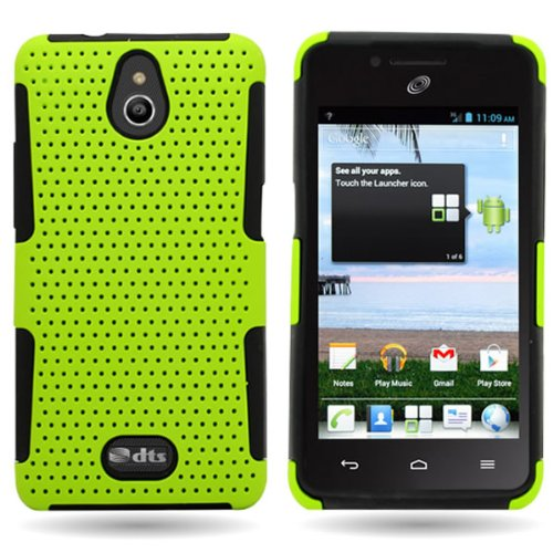Huawei H881C Case, CoverON [Mesh Hybrid Series] Protective Dual Layer Armor Phone Cover Case for Huawei Ascend Plus H881C / Valiant - Neon Green & Black]()