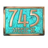 Stickley Address Plaque 12.5x8.75 - Raised Bronze Verdi Coated