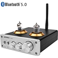 [2020 Upgraded] AIYIMA Tube T2 Audio 6J1 Tube Preamplifier Bluetooth 5.0 HiFi Treble & Bass Adjustment Audio Preamplifier DC12V Vacuum Preamp for Home Theater System (Silver)