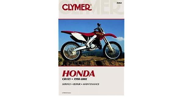 m464 clymer honda cr125 1998 2002 motorcycle repair manual rh amazon com 1998 honda cr125 service manual honda cr-125 r service manual 1998.pdf free