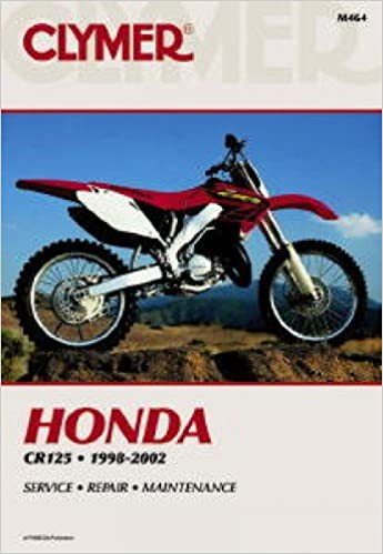 m464 clymer honda cr125 1998-2002 motorcycle repair manual: manufacturer:  amazon com: books