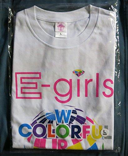 E-girls LIVE TOUR 2015 COLORFUL WORLD ツアーTシャツ ホワイト サイズLの商品画像