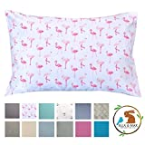 Ella & Max Toddler Pillowcase. Pink Flamingo. Soft & Cuddly. Fits 13x18 & 14x19 Toddler Pillows. Easy to wash & no Ironing. Handmade in USA. Made of Luxury Microfiber Fabric.