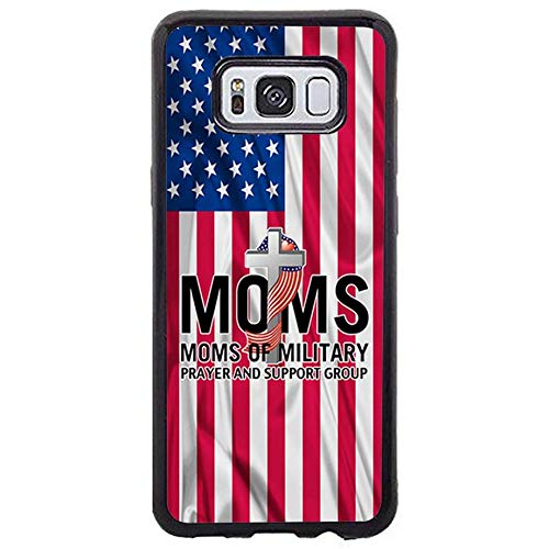 FIDIKO US Military Mom Prayer Protective Cases Compatible Galaxy s8 Plus, Cool Hard Plastic Tough   Snap On Hard Back Compatible Samsung Galaxy s8 Plus -