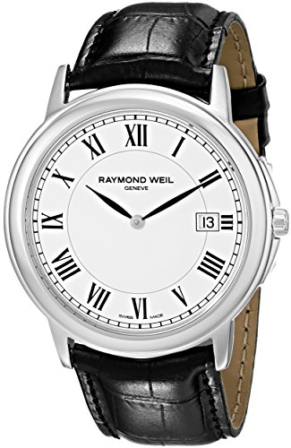 Raymond-Weil-Mens-54661-Stc-00300-Quartz-Stainless-Steel-White-Dial-Watch