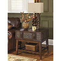 Ashley Furniture Signature Design - McKenna End Table - Rectangular -Vintage Casual - Dark Brown