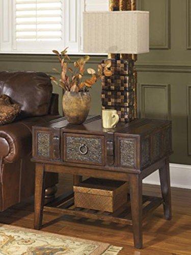 Ashley Furniture Signature Design - McKenna End Table - Rectangular -Vintage Casual - Dark (Mckenna Accent)