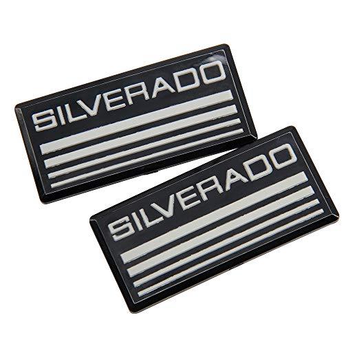 2 PCS Cab Emblem Badge Side Roof Pillar Decal Sticker Plate Replacement for Silverado 88-98 90 91 Suburban Tahoe C/K Series Blazer (Silverado Chevy Badge)