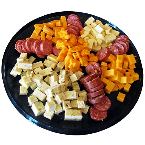 Deluxe Mens Gourmet Gift Basket- features Smoked Summer Sausages, 100% Wisconsin Cheeses, Crackers, Pretzels & Mustard | Great for Parties!